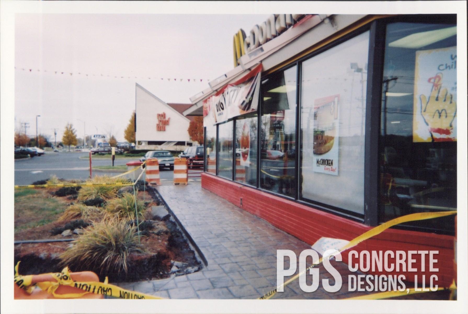 McDonalds concrete walkway